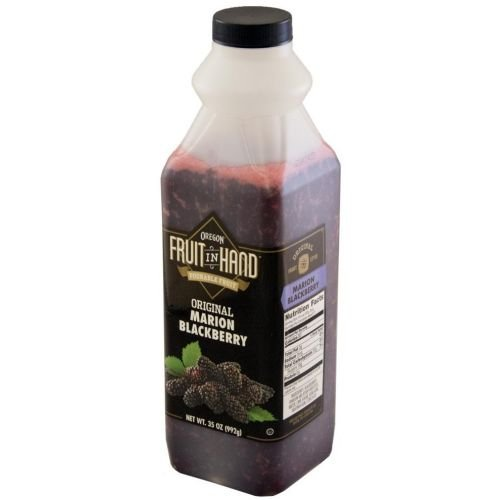 Fruit In Hand Marion Blackberry Pourable Fruit Puree, 35 Ounce - 6 per case.