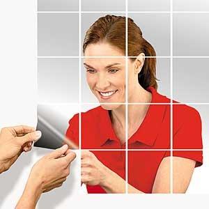 Amazoncom Self Adhesive Mirror Tiles Beauty - 5x5 mirror tiles