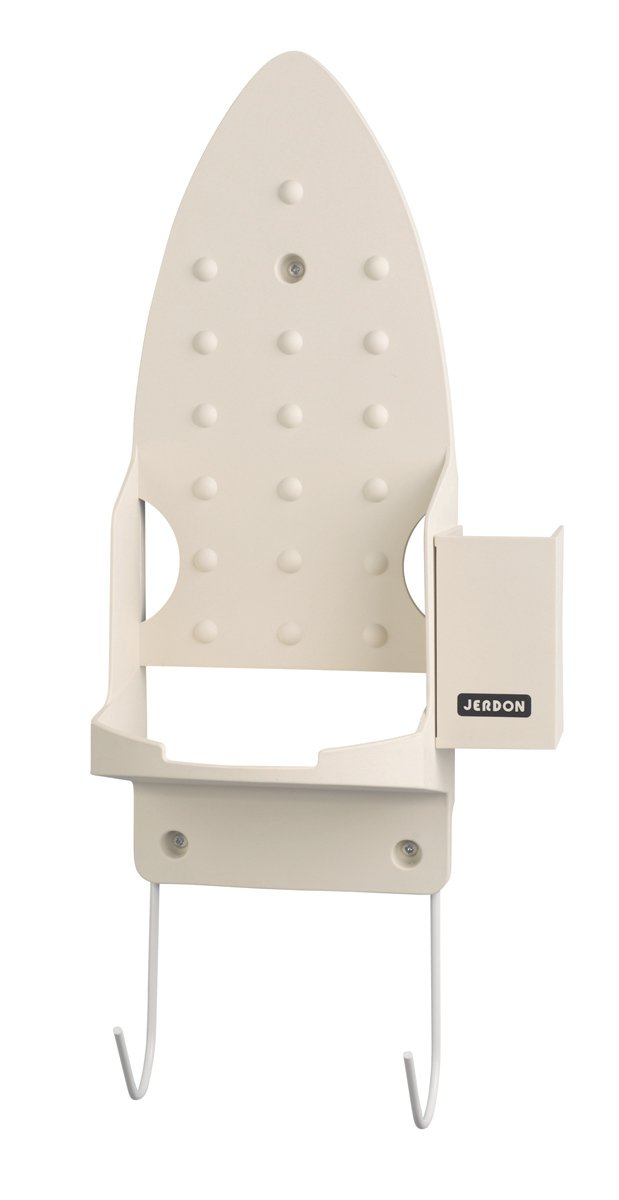 Jerdon JD84 Iron and Ironing Board Mounting Caddy with Non-Burn Surface, Beige Finish
