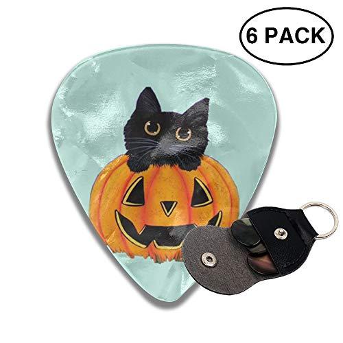 JSYAGSJ JAPSJS Halloween Pumpkin Kitten Printed Guitar Plucking Folk GuiTar It Sweeps The String Of The Anti-skid Electric Guitar Pick]()