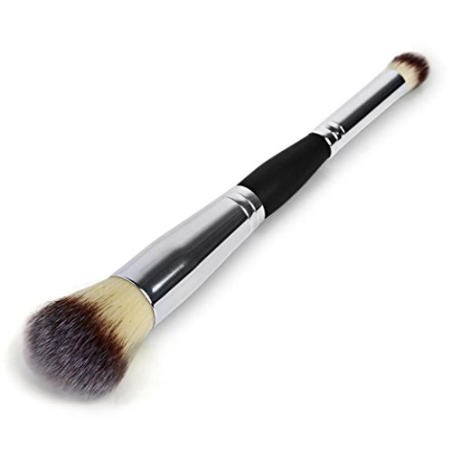 Double Cheek Contour Brush (Toraway Pro Makeup Cosmetic Brushes Contour Face Blush Eyeshadow Powder Foundation Tool)