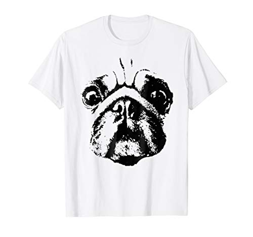 Cute Pug Face T-Shirt - Dog DIY Vintage Style Costume]()