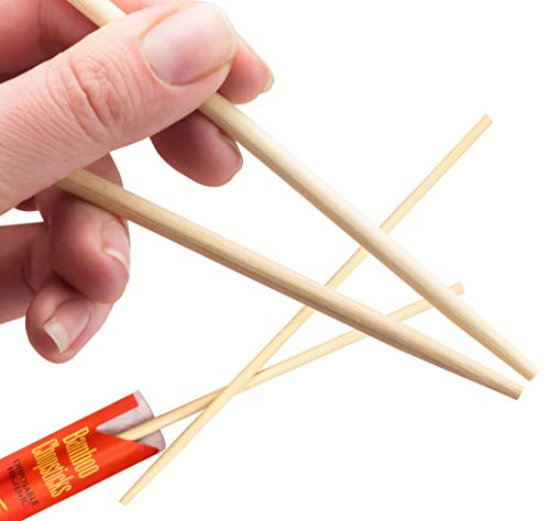 (Splinter-Free 9 Eco-Friendly Disposable Bamboo Chopsticks 100 Pack by Avant Grub. Sleeved and Separated for Use in Chinese, Hibachi and Other Asian Restaurants. Include with to Go and Take Out Orders)