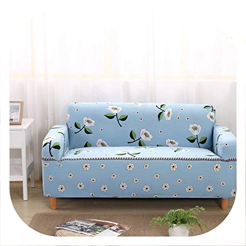 1/2/3/4 Seater Sofa Covers Chair Couch Protect Stretch Elastic Loveseat Slipcover for Living Room Sofa Cover,Color 20,2-Seater 145-185cm