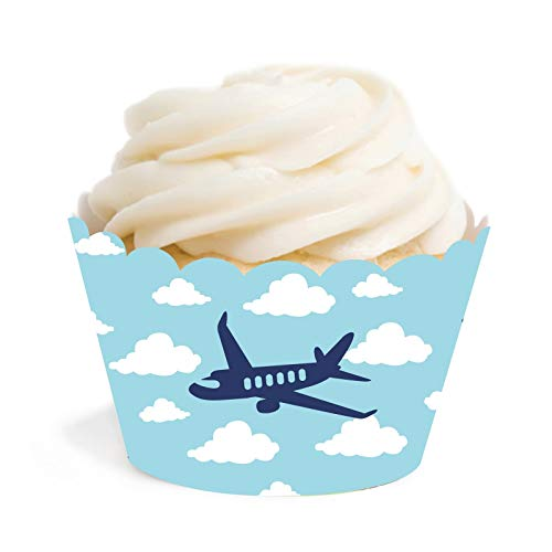 - Andaz Press Blue Airplane and Clouds Birthday Party Collection, Cupcake Wrappers, 24-Pack