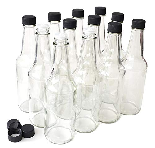 10 Ounce Glass Bottle - NiceBottles - Hot Sauce Bottles, 10 Oz - 12 Pack