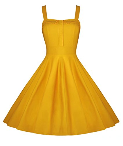 [Dear-Queen Women's Floral 1950's Vintage Retro Cocktail Party Dresses DQ066Y-S] (Cheap Plus Size Fancy Dress)