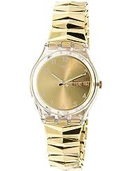 Swatch Originals Goldbrunnen Gold Dial Stainless Steel Ladies Watch GE708A