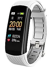 C6T Smart Watch Män Kvinnor Vattentät Armband Body Temperatur Monitor Bluetooth Smartwatch Armband för iOS Android-telefon