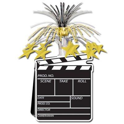 Movie Set Clapboard Centerpiece 15in. Pkg/3