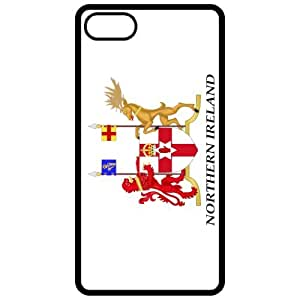 Northern Ireland Coat Of Arms Flag Emblem Black Apple Iphone 5 Cell Phone Case - Cover