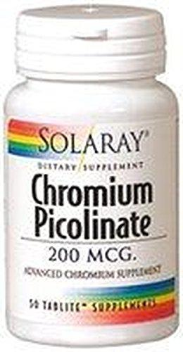 Cromo Picolinato 50 comprimidos de 200 mcg de Solaray: Amazon.es: Salud y cuidado personal
