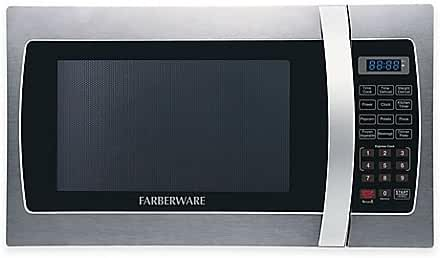 Farberware® Pro 1.3 Cubic Foot Microwave Oven in Stainless Steel/Black
