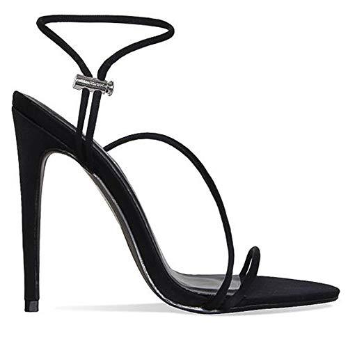 Noir Femme Sandales Chaussures Lydee Bracelet Mules x14qA7W70