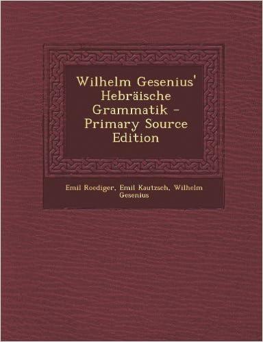 Book Wilhelm Gesenius' Hebräische Grammatik (German Edition)
