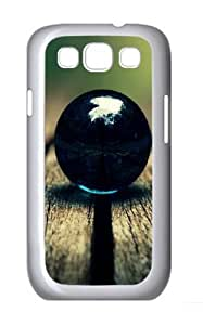 Black Ball Polycarbonate Hard Case Cover for Samsung Galaxy S3/Samsung Galaxy I9300 White