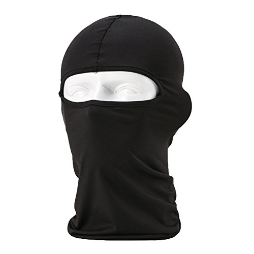 ALF_ISS Face Mask Motorcycle Skiing Cycling Thermal Neck UV Headwear - Black]()
