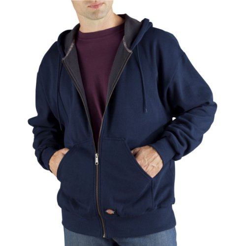 Dickies Men's Thermal Lined Fleece Jacket, Dark Navy, Medium