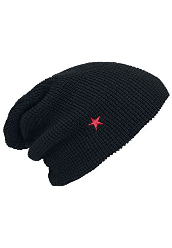 Rammstein Unisexs Beanie RS013 Rammstein Roter Stern Beanie Color: black in Size: One Size
