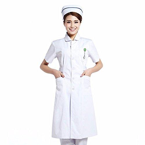 YISHIYI Enfermera Y Médico Usan Batas Blancas Y Ropa De Trabajo Ropa De Manga Larga De Belleza Farmacia: Amazon.es: Ropa y accesorios