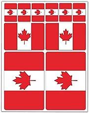 10 x Vinyl Stickers Set Decals Canada Canadian National Flag Car Motorcycle Helmet D 31