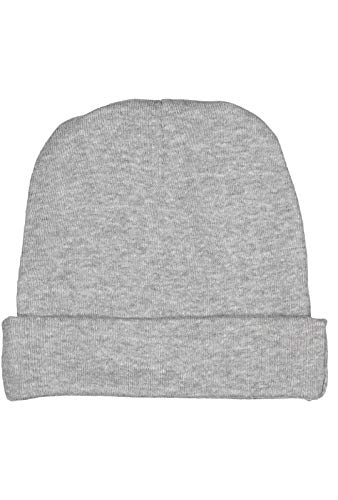 Rabbit Skins Infant 100% Cotton Baby Rib Folded Beanie Cap (Heather, One Size Fits All)