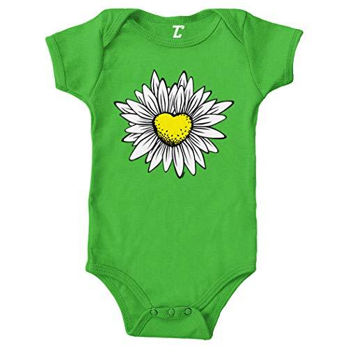 Daisy - Flower Pretty Nature Bodysuit (Light Green, 12 Months)