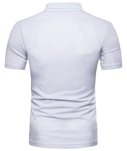(ワトリズ)Whatlees メンズ ポロシャツ 無地 シンプル カジュアル トップス