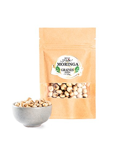 Moringa Oleifera Roasted Seeds - Perfect Snack Energy Booster - Greatest Antioxidant on Earth - High Natural Sugar - Over 14 Essentials Amino Acids, Take As a Snack- 50g