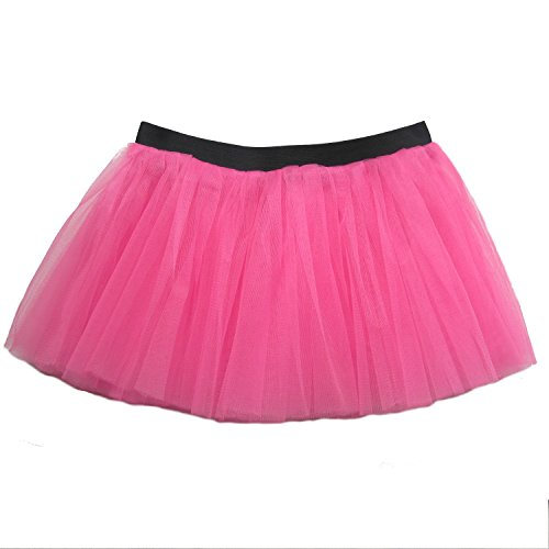 [Running Skirt - Teen or Adult Size Princess Costume Ballet or Race Tutu (Hot Pink)] (Hot Costumes For Teens)