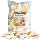 Vet Recommended - Natural Beef Rawhide Chips | Quality Rawhides for Dogs - Long Lasting Dog Chew - Pure Natural Goodness - USA Beef (2-lb Bag)