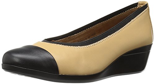 Aerosoles Women's True Blue Slip-On Loafer, Tan Combo, 9.5 M US