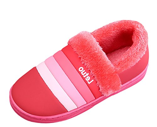 Men House Slipper Indoor Red Women Winter Liveinu Shoes C Slippers dxOYqw
