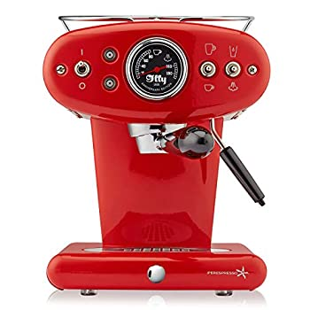 Image of illy 60256 X1 Espresso Machine, 13 x 9.8 x 10.60, Red Cake Stands