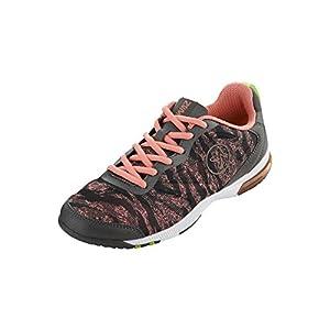 Zumba Women's Impact Pulse Dance Shoe, Coral/Gunmetal, 7 M US