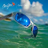 Maui Jim Sunglasses | Stingray B103-05CM | Matte Crystal Rubber Wrap Frame, Polarized Blue Hawaii Lenses, with Patented PolarizedPlus2 Lens Technology