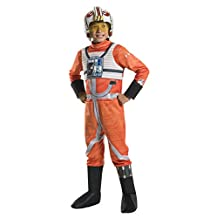 Rubies Costume Kids Classic Star Wars Deluxe X Wing Fighter Pilot Costume, Small