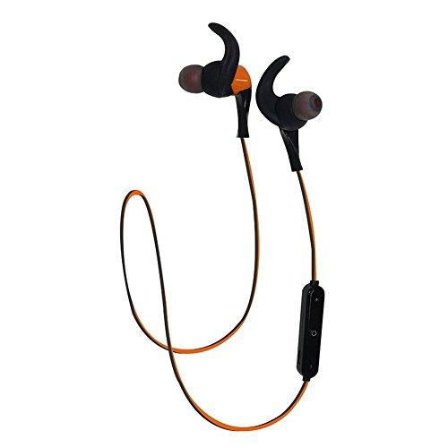 LoongSon Best Bluetooth Headphones Headsets, Mini Wireless Bluetooth 4.2 HD Stereo Sweatproof In Ear Earbuds Gym Running, Sports Earphones Microphone Noise cancelling (Orange)