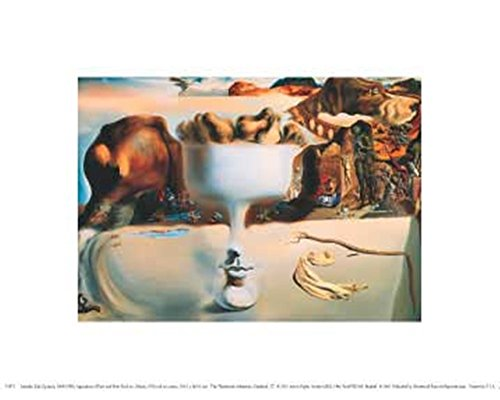 Great Art Now Apparition of Face and Fruit Dish on a Beach, c.1938 by Salvador Dali Art Print, 10 x 8 inches ()
