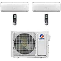 Gree Vireo MULTI18CVIR200 - 18,000 BTU Multi21+ Dual-Zone Wall Mount Mini Split Air Conditioner Heat Pump 208-230V (9-9)