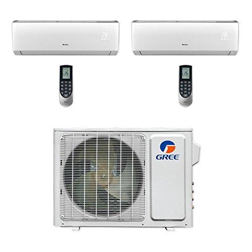 Gree Vireo MULTI18CVIR200 - 18,000 BTU Multi21+ Dual-Zone Wall Mount Mini Split Air Conditioner Heat Pump 208-230V (9-9)