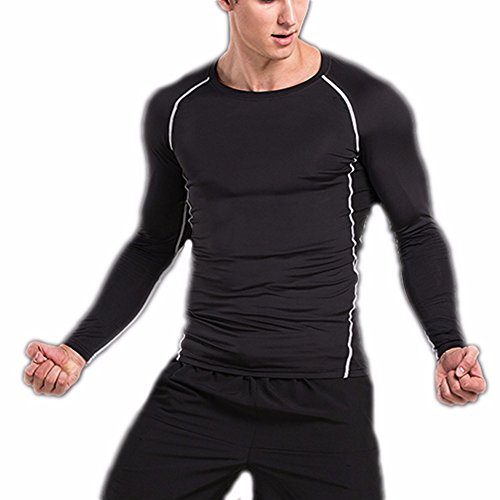 CFR Men's Sport Tights Compression Pants Fitness Leggings Quick Dry Baselayer Rashguard for Running Cycling Yoga