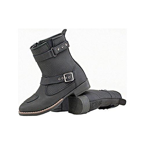 Joe Rocket Moto Adira Womens Riding Shoes Sports Bike Racing Motorcycle Boots - Black/Size 10