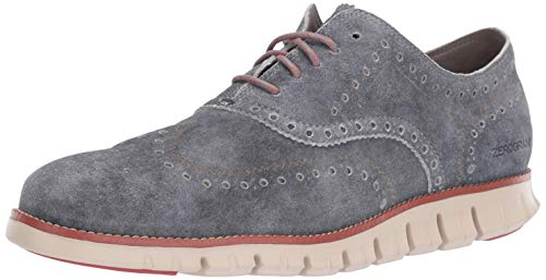 (Cole Haan Men's Zerogrand Wing OX Oxford, Denim Extra Grey Suede/Redwood/Brazilian Sand, 13 M US)