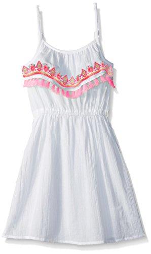 The Children's Place Little Girls' Sleeveless Summer Dress, White 78048, XS (4)