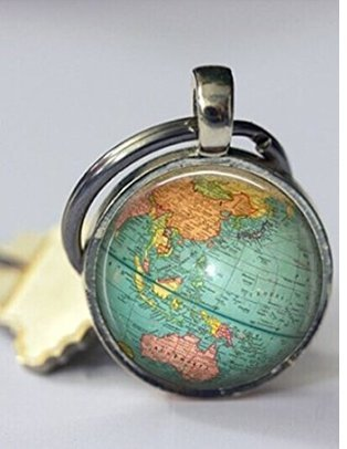 Globe keychain world map planet earth geography key chain key fob globe keychain world map planet earth geography key chain key fob accessories gumiabroncs Gallery