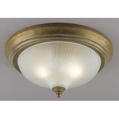 Cozumel 5 Light (Westinghouse 6431100 Two-Light Flush-Mount Interior Ceiling Fixture, Cozumel Gold Finish with Frosted Swirl Glass)