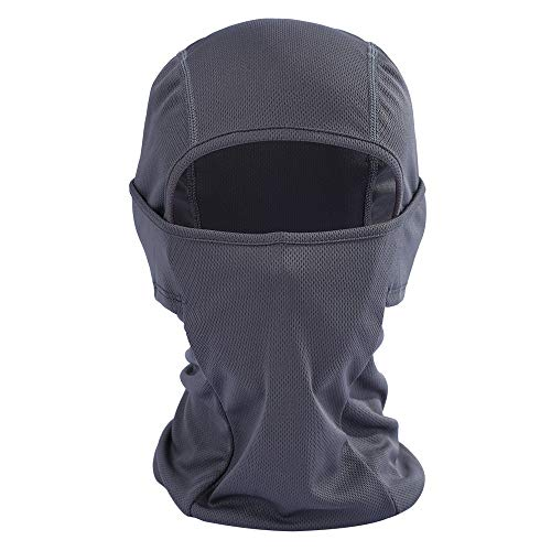 Iusun Balaclava Mask Breathable Windproof Hat Cold Weather Full Face Lightweight Adjustable Mask Motorcycle Neck Warmer for Running Cycling Skiing Outdoor Sports Men Women Unisex (Gray)