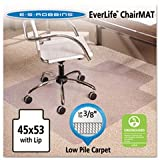 (3 Pack Value Bundle) ESR128173 45x53 Lip Chair Mat, Multi-Task Series AnchorBar for Carpet up to 3/8''