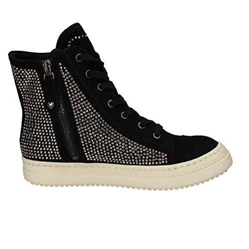 TWIN-SET Sneakers Donna Nero Camoscio Strass AE840